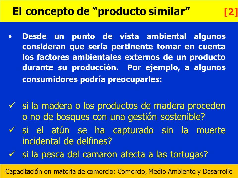 El concepto de producto similar [2]